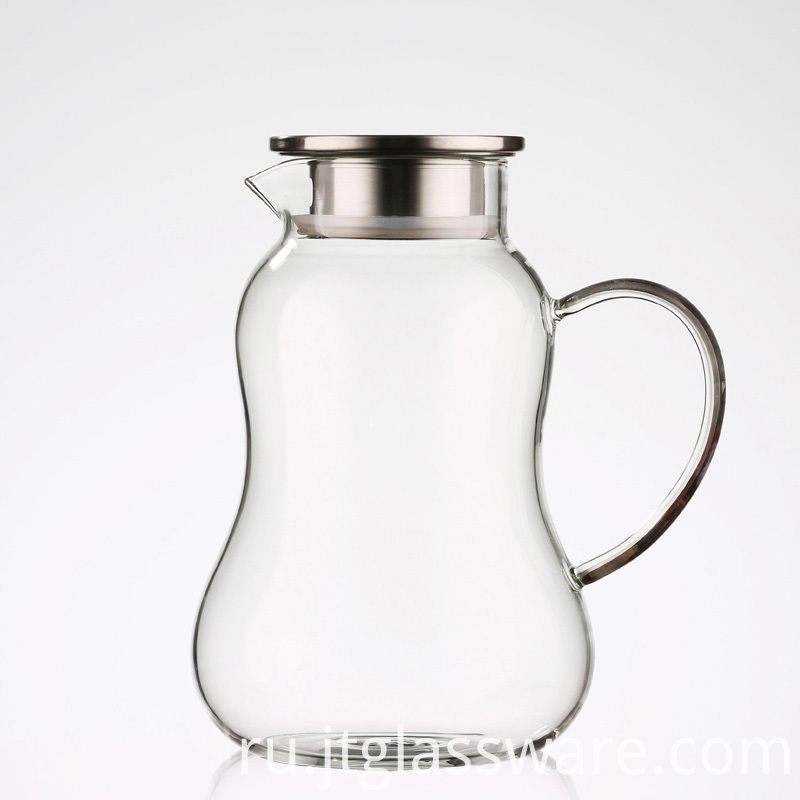 Water Carafe with Handle Beverage Pitcher