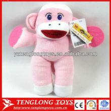 Cute monkey plush toys knitted monkey bells baby plush toys