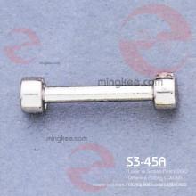 Raccord pour matériel de sac à main en nickel perlé avec logo gravé coréen