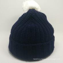 Модная теплая бейс-шапка зимняя вязаная шапка