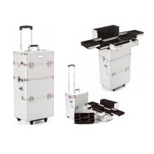 Caisse de train de maquillage d'argent de Salable (HX-A0726)