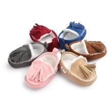 Mocasines de invierno infantil de 6 colores Zapatos de bebé antideslizantes de suela suave unisex