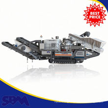 Haute qualité électrique moteur mini mâchoire concasseur mobile gros