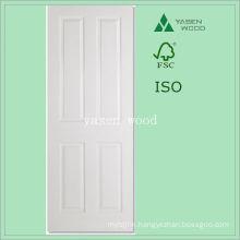 Interior White Primered Craftsman Wooden Door