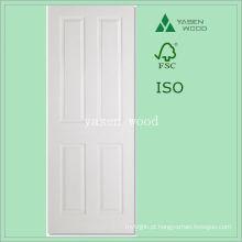 Porta de madeira interna branca do artesão Primered