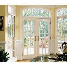 Woodwin последний дизайн Двойное закаленное стекло Алюминиевое французское окно