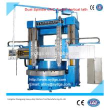 Torno CNC de dupla hélice Preço de torno vertical oferecido pela fabricação de torno vertical CNC de duplo eixo