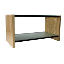 Carved Glass LED TV Stand