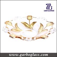 13,5 '' Gloden Plating Glass Fruit Bowl