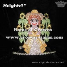 Wholesale Crystal Sunflower Princess Crowns