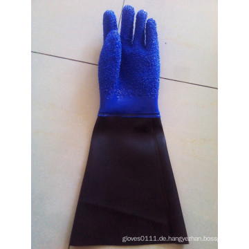 SunnyHope Slip-resistenter, pvc-beschichteter wasserdichter, ölbeständiger Angelhandschuh