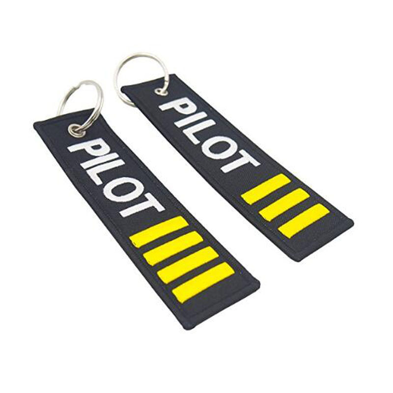 Four Bars Pilots Embroidered Key Chains
