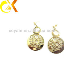 Aço inoxidável jóias real 18k brinco brinco de ouro para mulheres
