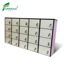 Durable light gery hpl compact laminate shoe lockers