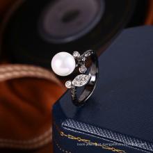 fabricante de jóias por atacado projeto do anel da pérola para as mulheres