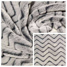 100% Polyester Flannel Fleece Fabric with Minky Stripes