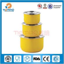 recipiente de alimento da forma redonda / caixa de armazenamento de aço inoxidável do alimento / caixa de armazenamento do mel