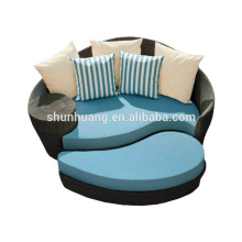 comfortable garden sun bed wicker rattan chaise lounge with ottoman