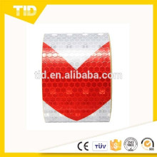arrow reflective Tape, white & red, warning tape
