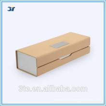 Boîte optique optique en cuir en métal