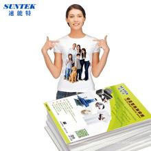 T-shirt luz escura Inkjet Laser Press impressão papel de transferência térmica
