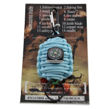 2016 hot sale 7 strands 550lbs paracord grenade survival kit China alibaba recommend welcome to order