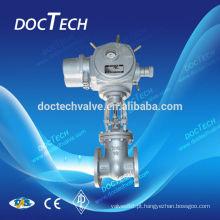 Atuador elétrico e atuador pneumático válvula de portão final Flange DIN