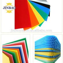 JINBAO Certificación SGS nuevo paquete de material 3 mm blanco azul hueco tablero de pp