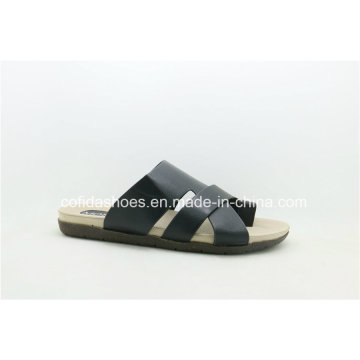 New Fashion Flat Comfort Men PU Slipper Sandals