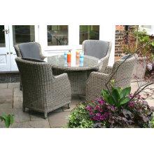 Garten im europäischen Stil Runde Tabelle Rattanmöbel