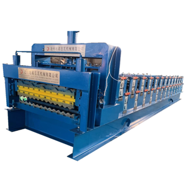 Trapezoidal Glazed Corrugated Panel Roll Forming Machine