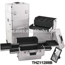 Custom portable combination lock cosmetic case with good design