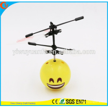 Hot Selling Interesting Mini Flying Ball Toy Smile Face Heli Ball Christmas Gift for Kid