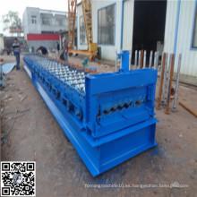 Metal y acero rollo de azulejos ondulados que forma la máquina
