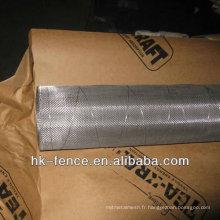 304 tissage croisé plissé tissé de fil d'acier inoxydable tissé chaud de vente chaude