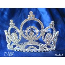 Canetas de metal coroa tiara de plástico coroas de plástico e tiaras ano novo casamento de diamantes / tiara nupcial coroa de cristal
