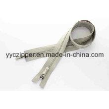 Platino Y Dientes De Dos Maneras Separar Metal Zipper Profesional De La Fábrica