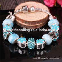 European silver charms beads bracelets luxury bracelet 2014