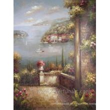 Handgemachte Leinwand Gemälde des Mittelmeers
