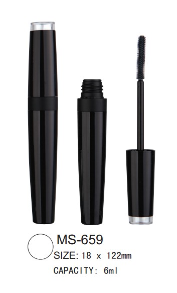 round cosmetic mascara packaging