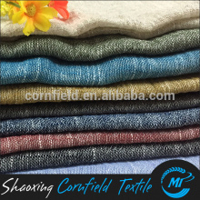 FASHION LEINEN / BAUMWOLLE YARD DYED SLUBBED FABRIC