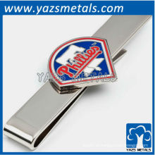 Filadelfia filigranas barra de corbata, por encargo clip de corbata de metal con diseño