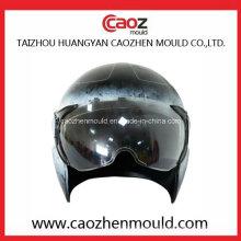 Capacete de plástico e molde de visor para uso de motocicleta