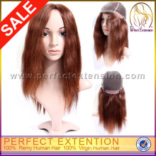 With Baby Hair Indian Remy Light Yaki Silk Top Full Realistic Hairline Lace Wig