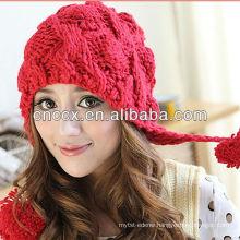 PK17ST170 pom pom fashion girls beanie hat winter hat