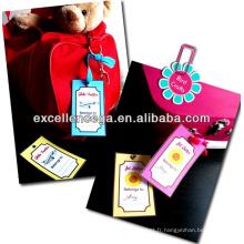 Étiquettes de bagage imprimables gratuites
