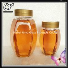 Frasco de mel de abelha de vidro de 1000g