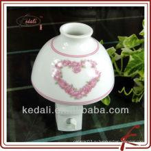 Небольшой керамический ночник с надписью на сердце