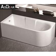 Aokeliya large acrylic corner installation freestanding bathtub for sale white stand alone bathtub used for home