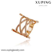 14662 xuping joyería al por mayor 18k anillo de lujo chapado en oro para las mujeres